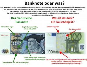 € Banknote oder was